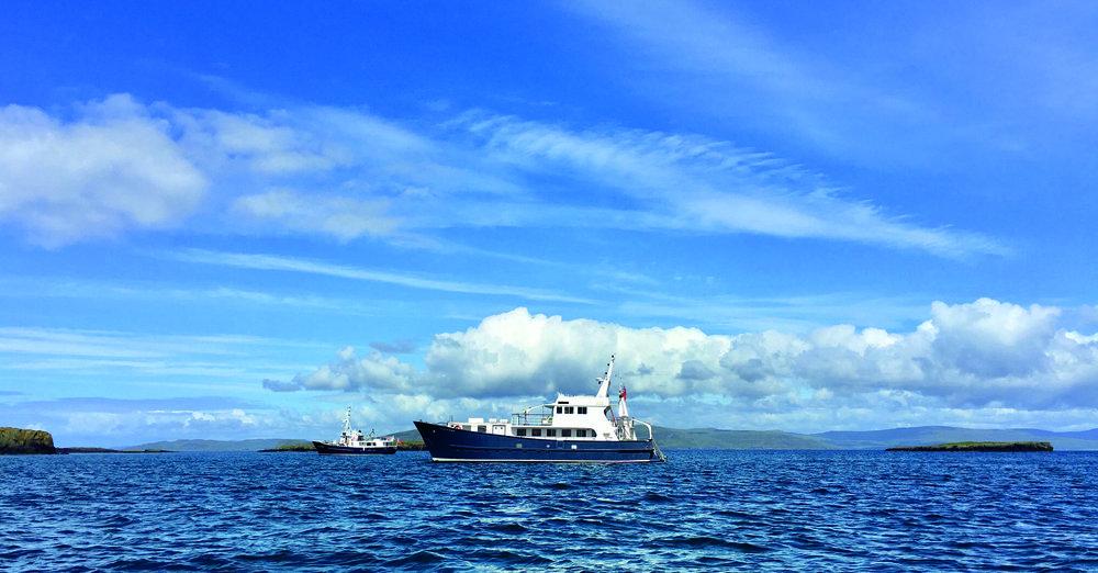 Hebrides Cruises' vessels Elizabeth G and Emma Jane