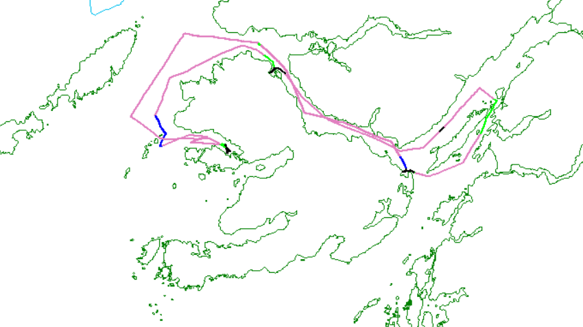 Track lines for Winter Survey 3