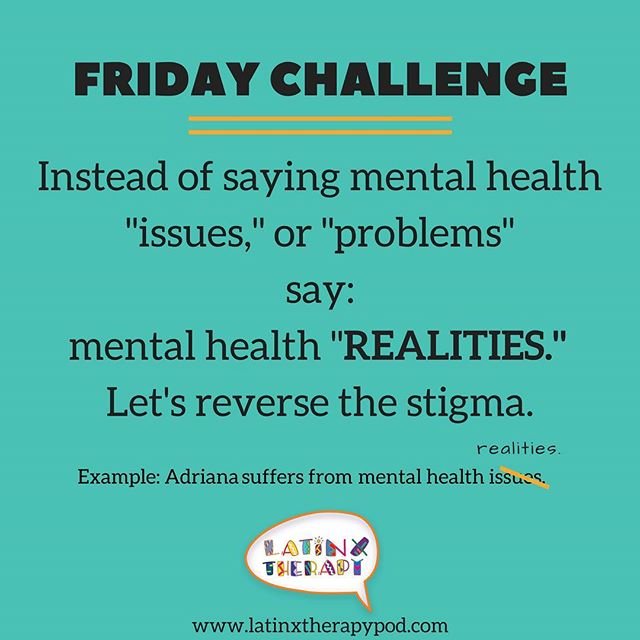 "Language makes a difference. Replace words associated with negative connotations when using ""mental health"" in the same sentence. Spanish version to come soon. #breakthestigma #endrhestigma #reversethestigma #tryit #weekendchallenge #mentalhealth #mentalhealthmatters #latinxtherapy #latinos #latinas #latinx #share #spreadtheword"