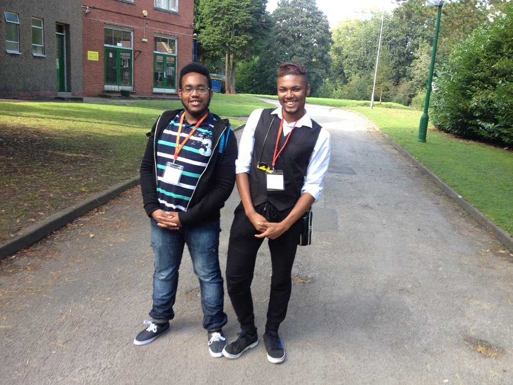 """Two of our ex-students happy to return to Hunters Hill and share their positive stories with us""]"