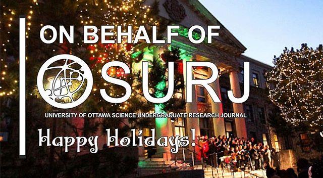 Joyeuses fêtes de la part de la famille JRSUO ! // Happy holidays, from the OSURJ family to yours!