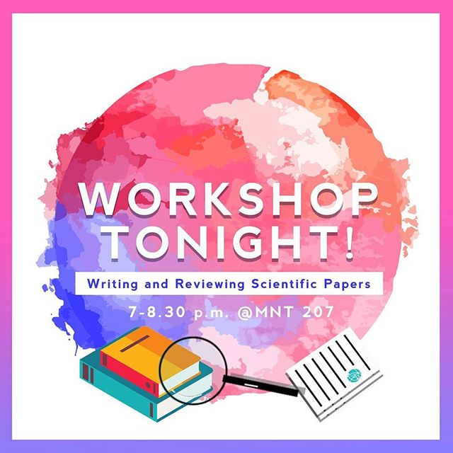 OSURJ's 3rd workshop in the series Writing and Reviewing Scientific Papers is in just 2 HOURS!! Don't miss out on the chance to learn the know-hows of scientific literature in research; admission is FREE so feel free to drop by MNT207 from 7pm till 8:30pm!! 🔬⚗️ We hope to see you there! 😊  More info in our bio.