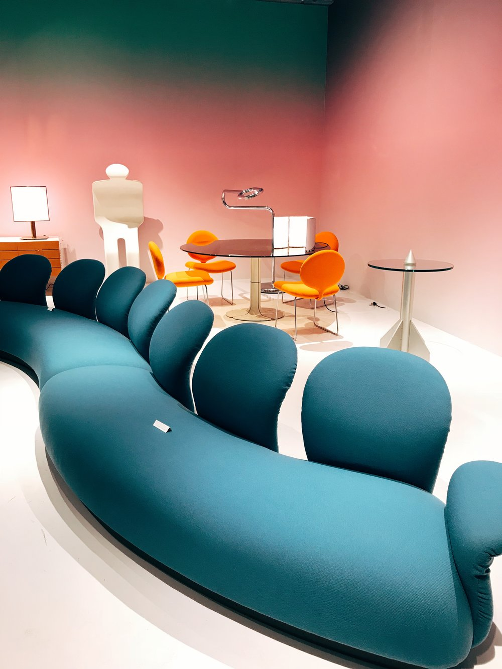 This funky sofa is by Pierre Paulin from 1969!