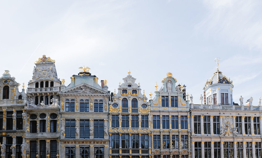 After the museum we went to the Grand Place where these old buildings align to make a rectangular shaped plaza.