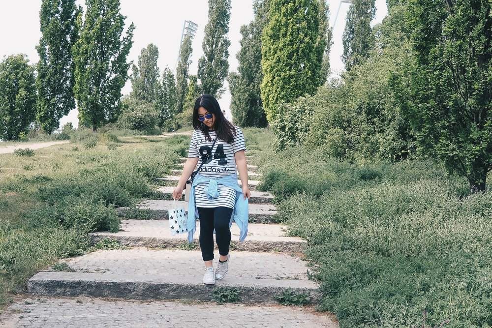ootd misscamco camille co berlin germany adidas