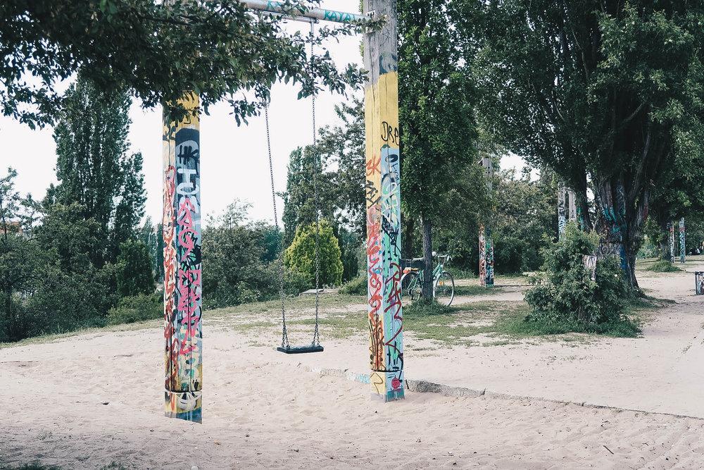 swing mauerpark berlin germany