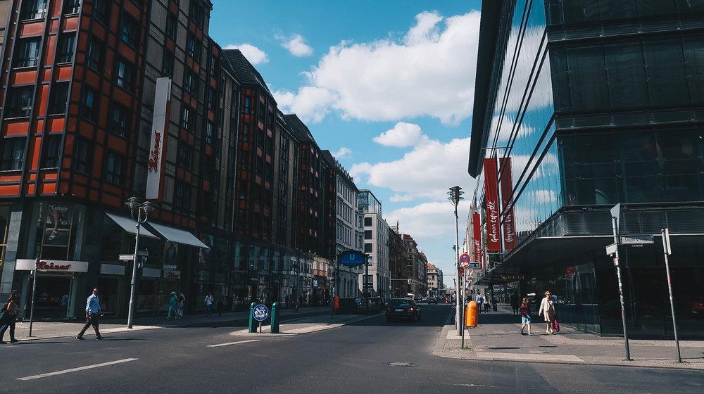 Berlin street Germany fashion district