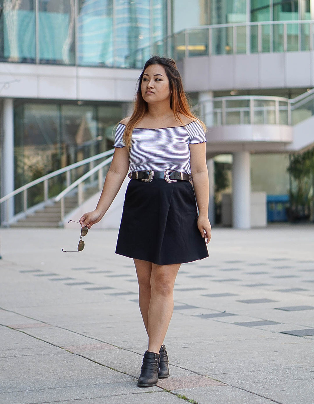 blogger ootd wearing zara and aritizia