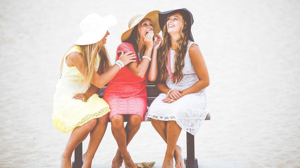 girlfriends laughing unsplash