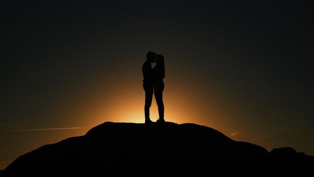 love couple silhouette unsplash