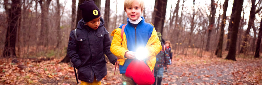 5:00 - Trek Back - Walk back to grown-ups using flashlights and chat about our observations and feeling about the afternoon's adventures! Until next week, Winter Warriors!