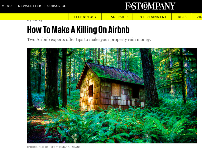 Fast Company Airbnb Article