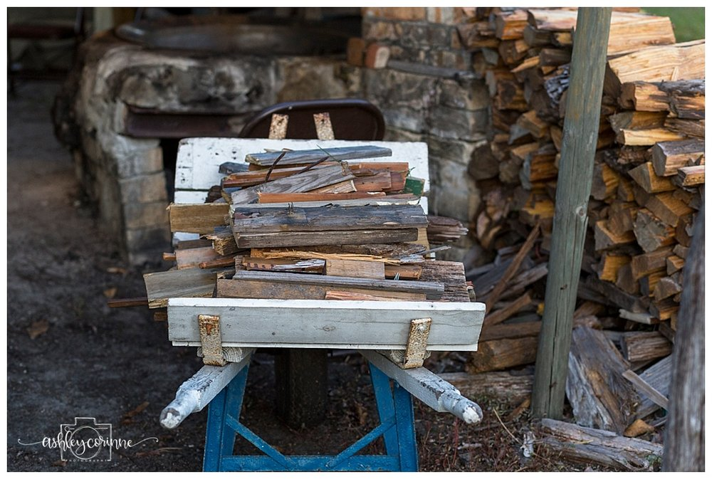 Wood Pile - A Florida Cane Grinding - Ashley Corinne Photography