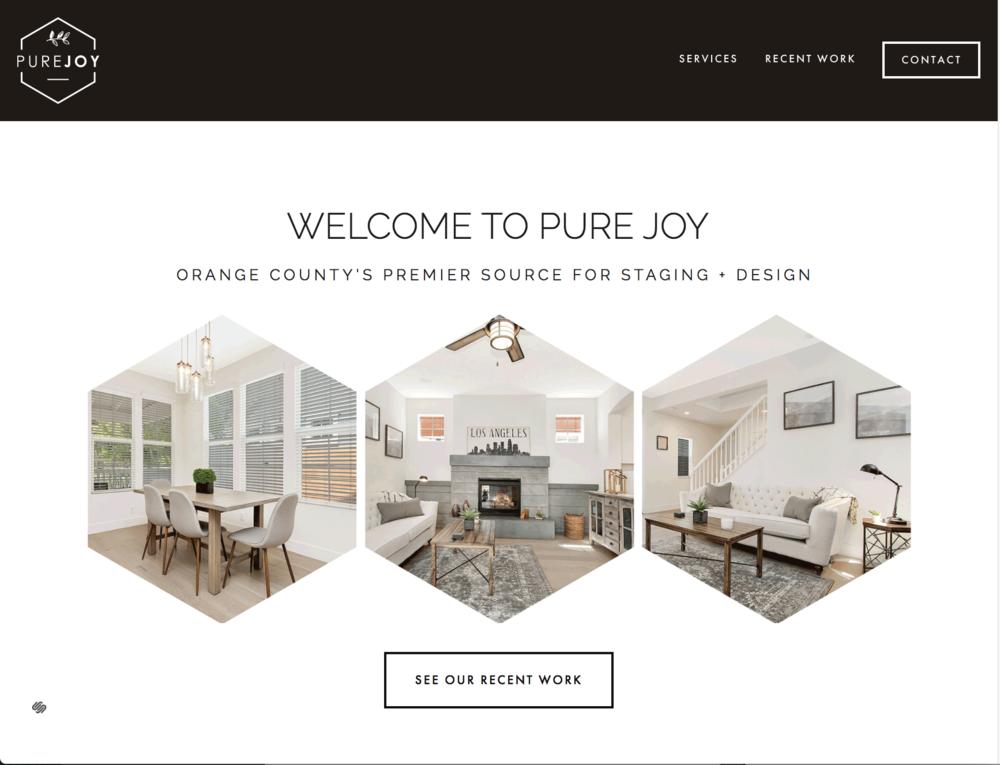 Natalie Lauren Design Co. | Pure Joy Staging + Design | Website Design