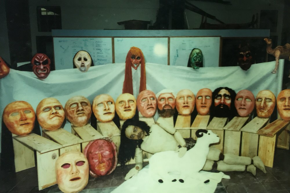 The wall of masks