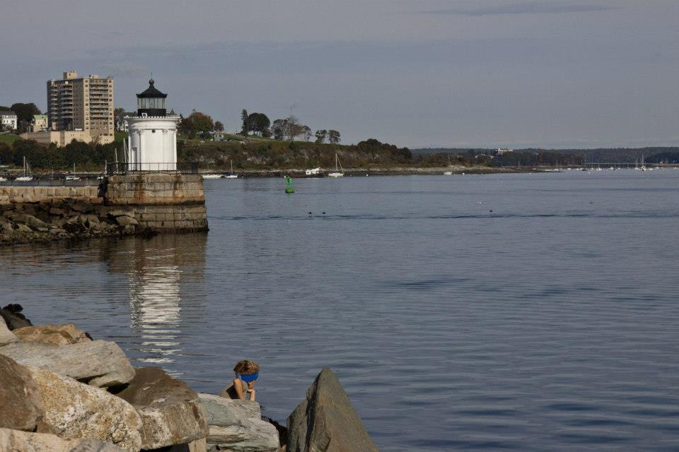 Bug Light Park has stunning views of Portland and South Portland