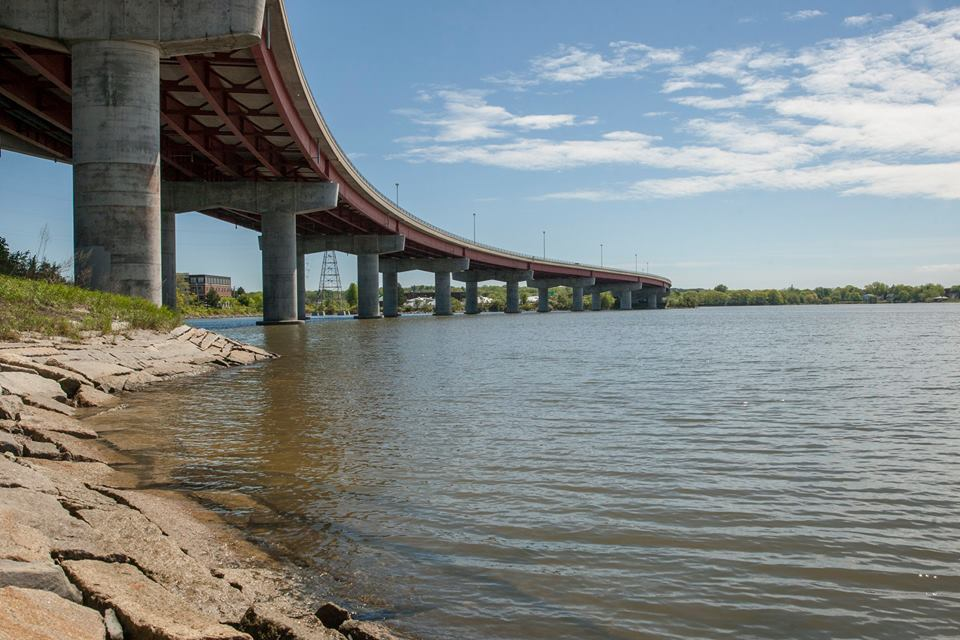 Thomas Knight Park is nestled under the Casco Bay Bridge and has pretty water views