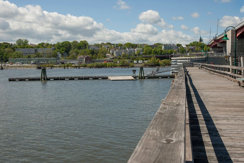 From the park, pedestrians can access a boat dock