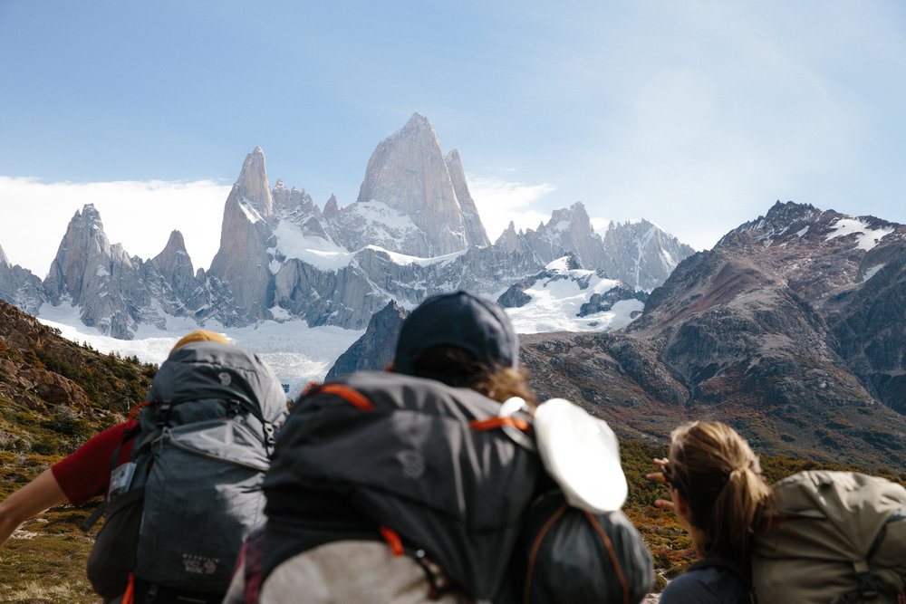 Fitz Roy range in Patagonia