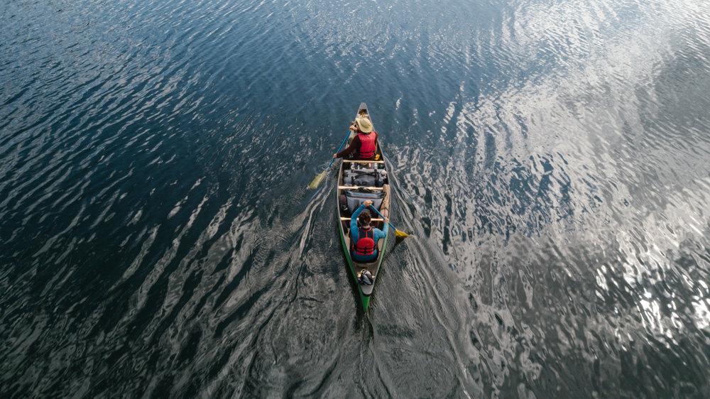 Bowron Lakes canoe