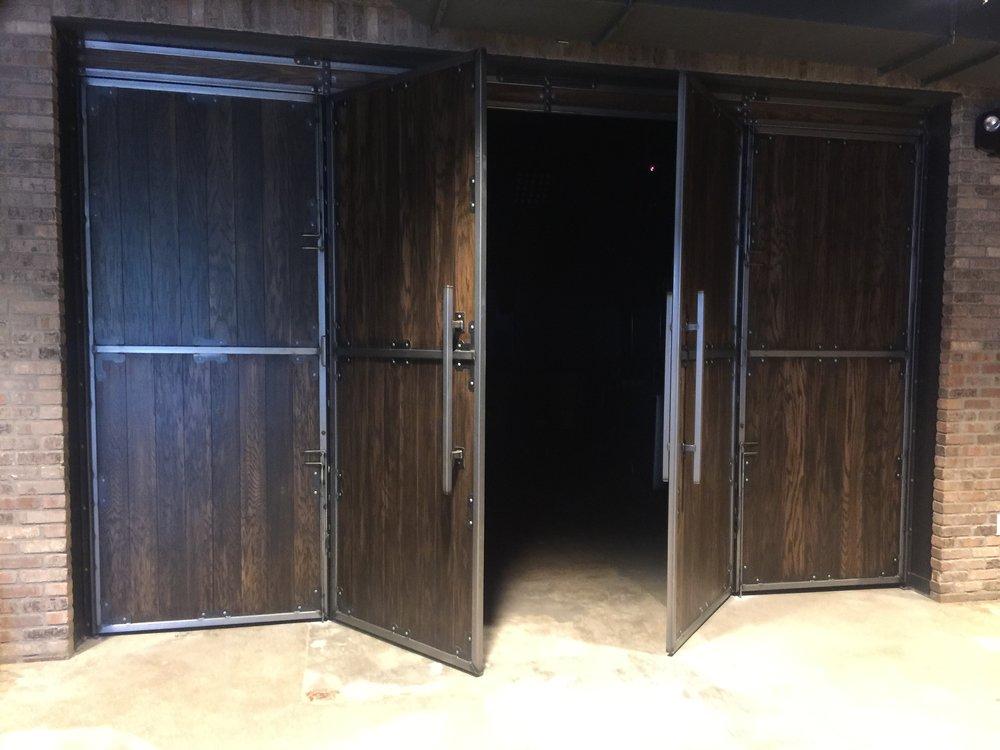 Double swing egress door & Night club doors u2014 Russellbilt