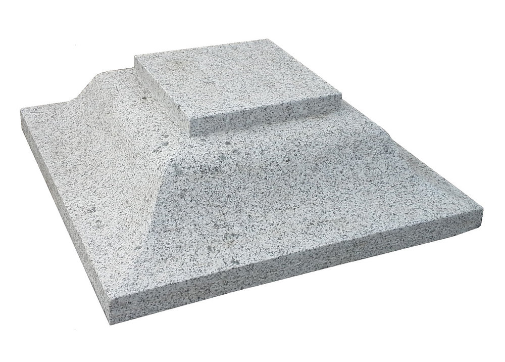 2no. 700x700x230mm grey granite caps - €380 in total