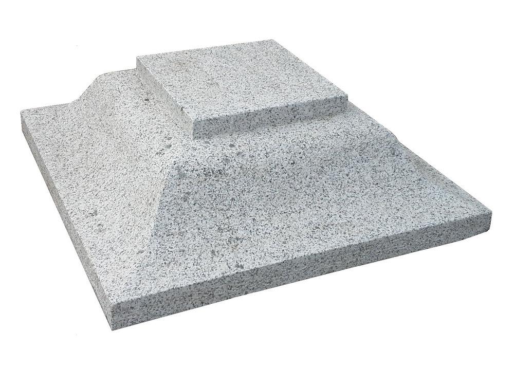 2no. 700x700x230mm grey granite caps - €380 in total