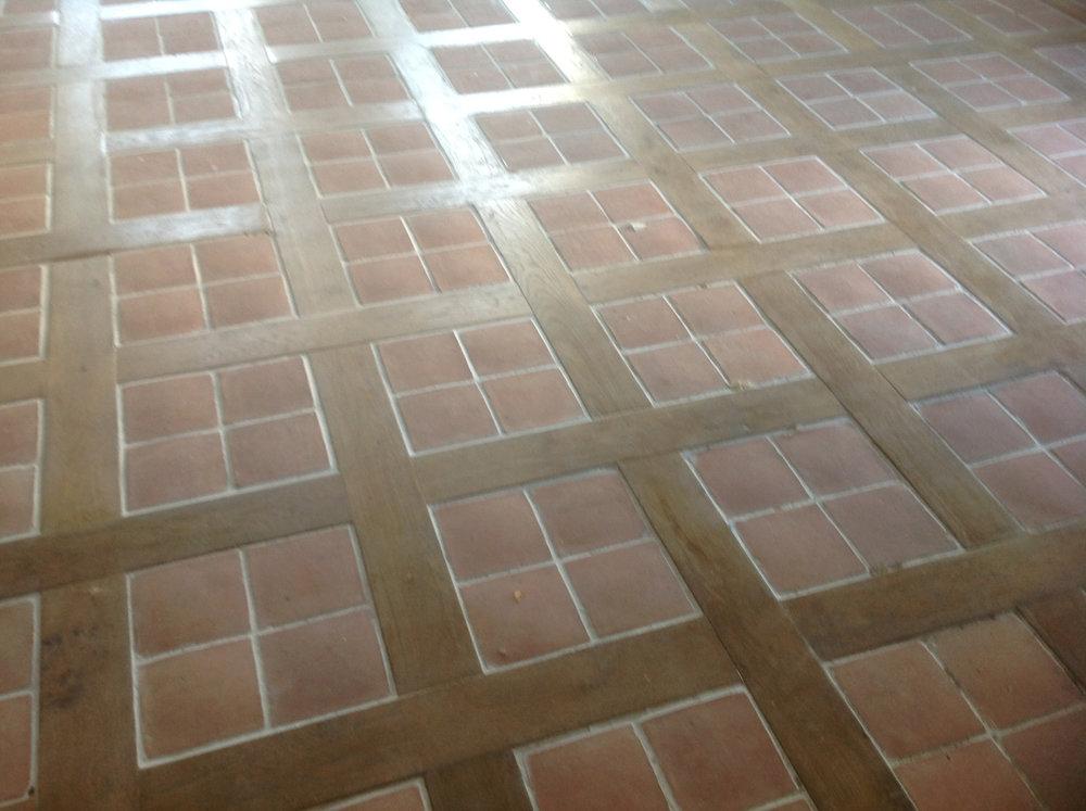 28sqm 170x170 handmade terracotta quarry tiles - €1,200