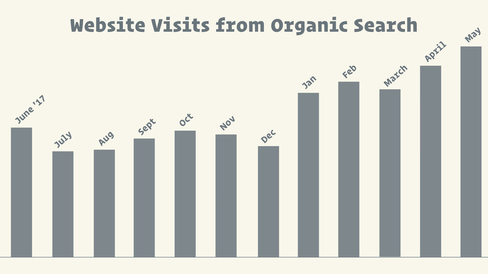 organic search traffic to salon website
