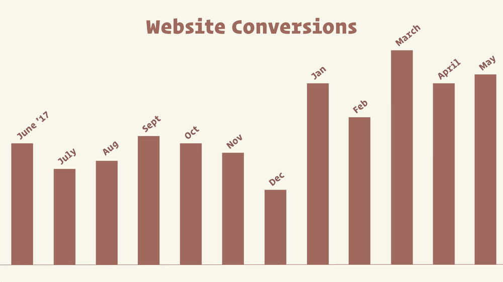 Salon website conversions