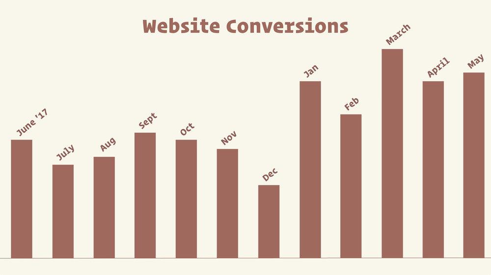 Salon website conversions