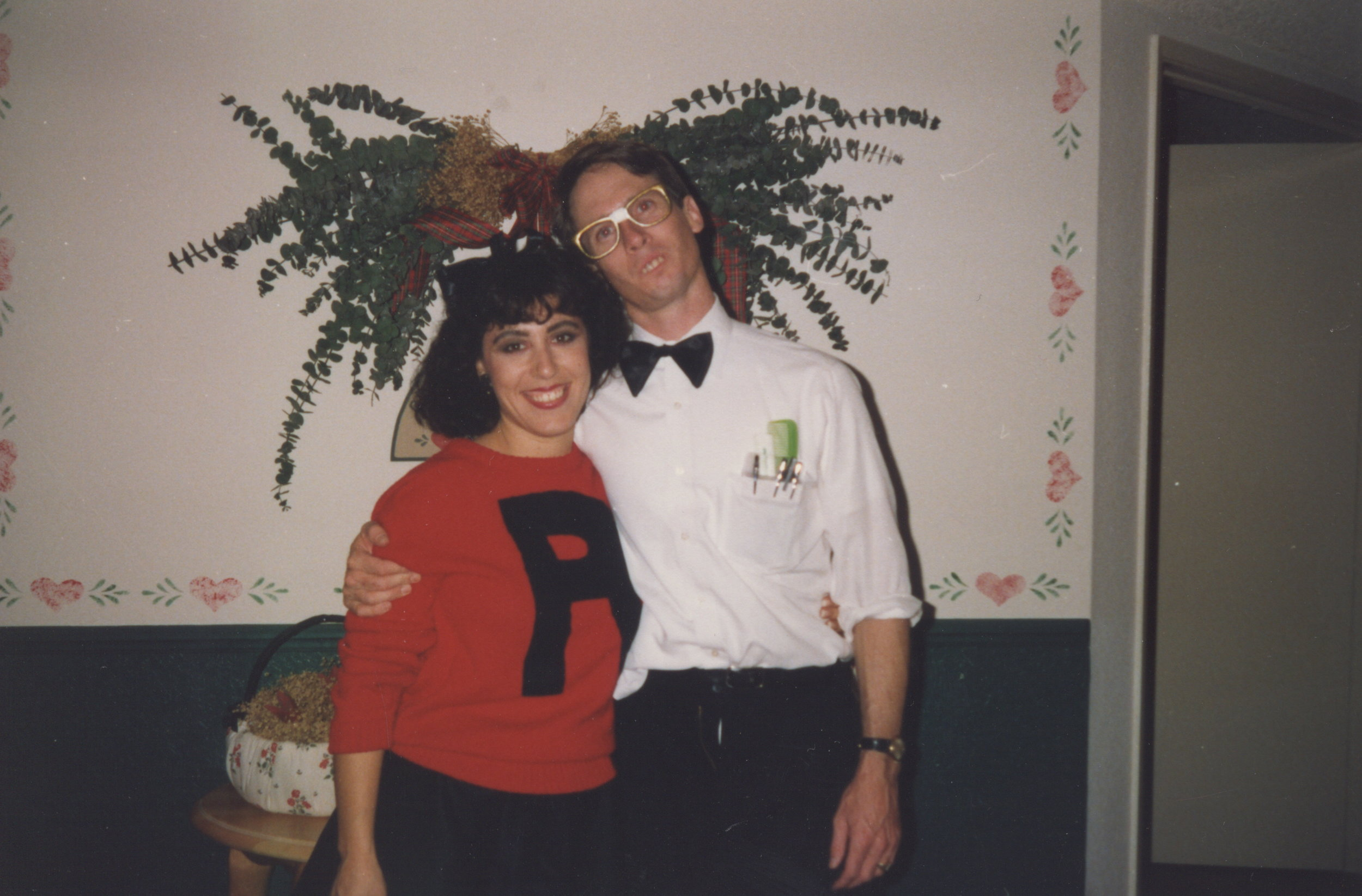 Bryan's parents all dressed up for a costume party