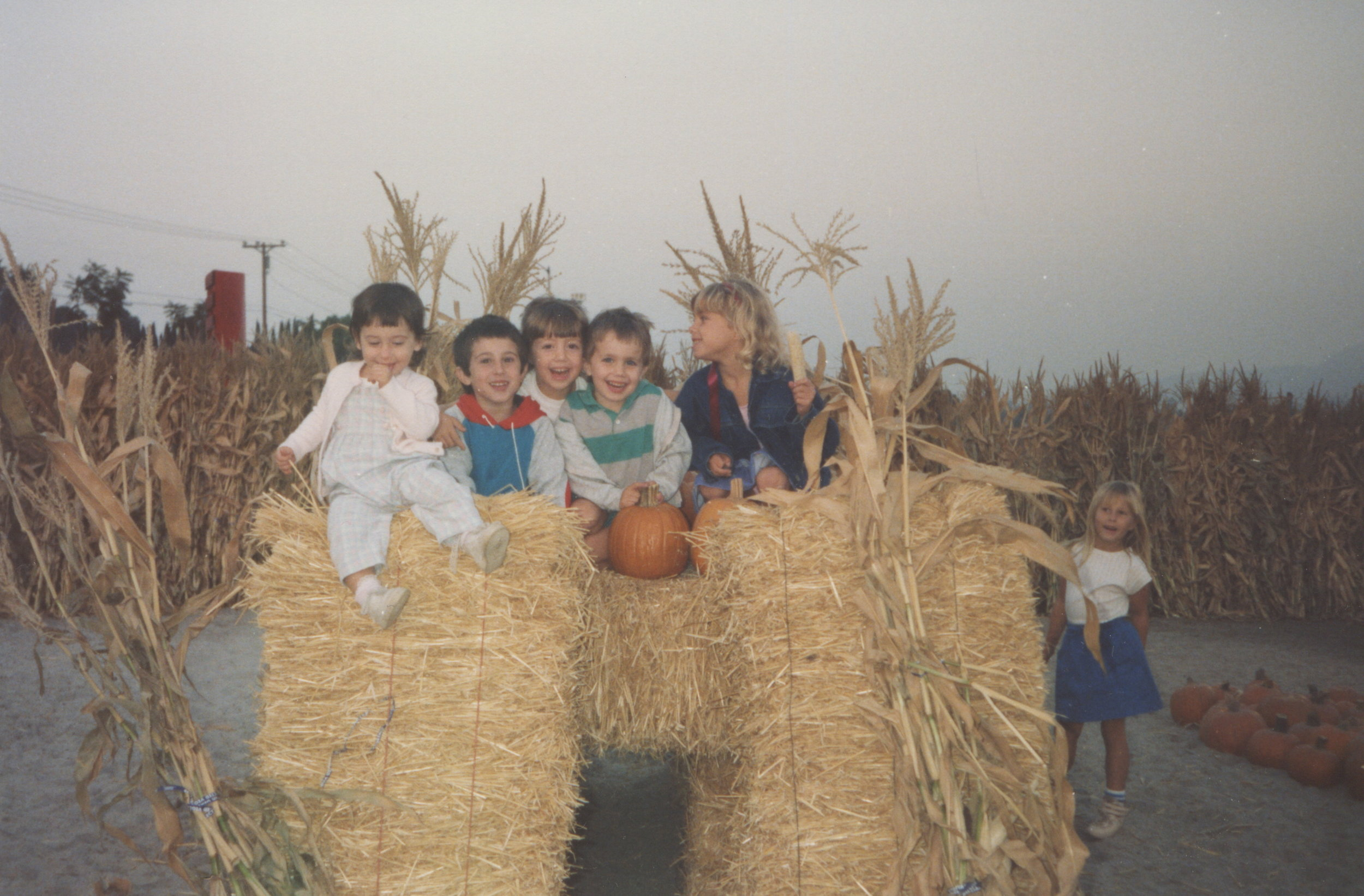 Bryan and I as kids at the pumpkin patch