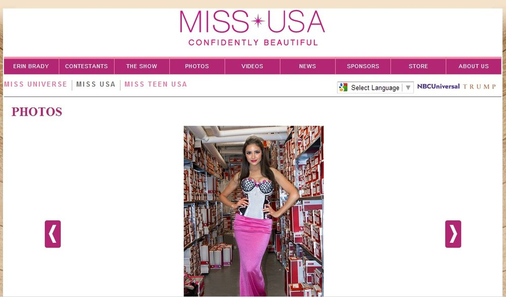 MISS USA WEARING NEW BALANCE DRESS DESIGNED BY JACQUELINE QUINN