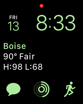 This is typically how I have my watch set up on non-wedding days using the Modular watch face.