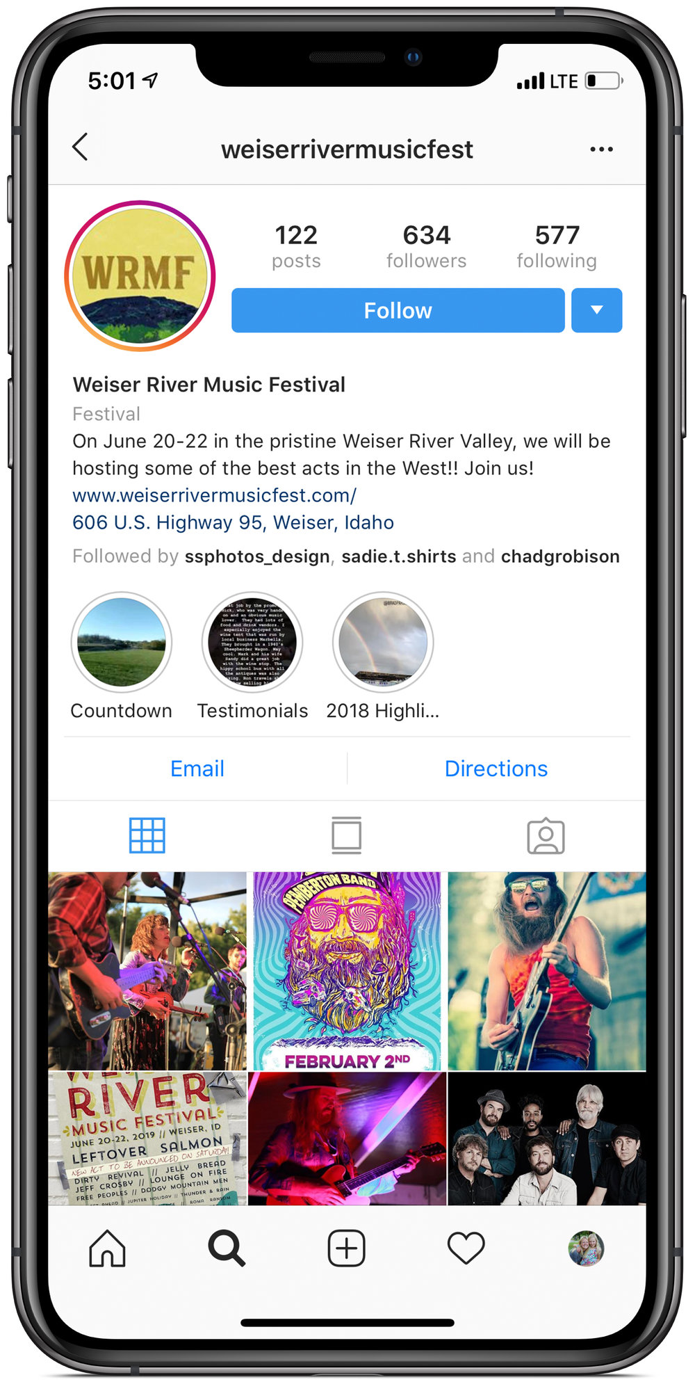 Click to access WRMF Instagram