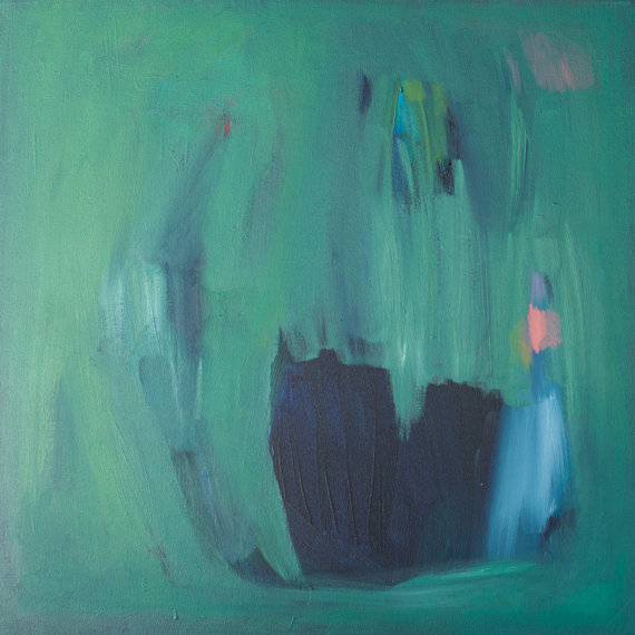 Green Abstract by Lola Donoghue