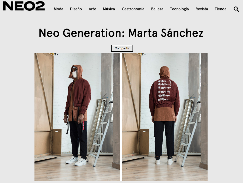 NEO2 MAGAZINE - Marta Sánchez launches its own Kids Of Broken Future brand with a first collection influenced by hip hop, punk and skate culture, all with a futuristic touch.
