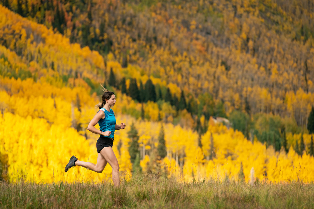 """""""Currently training to do a marathon, then a 50-mile run race in Leadville next year"""""""