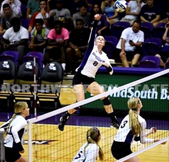 LAURA AGAN  is a 23-year old athlete who played NCAA Division 1 volleyball at Northwestern State University, and then continued to play in England at the University of Nottingham while completing her masters of science degree in health psychology. She is now a Health Coach and volleyball coach for youth volleyball.