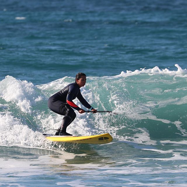 """I started stand-up-paddle boarding - racesup and wavesup - which became my biggest passion ever!"""