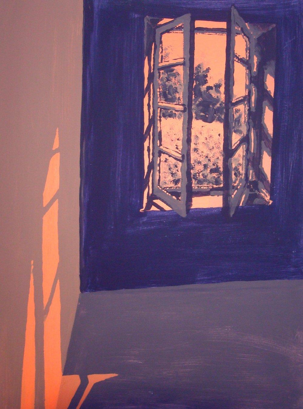 Window #281  Tempura paint on cardboard. 4 x 6 ft.