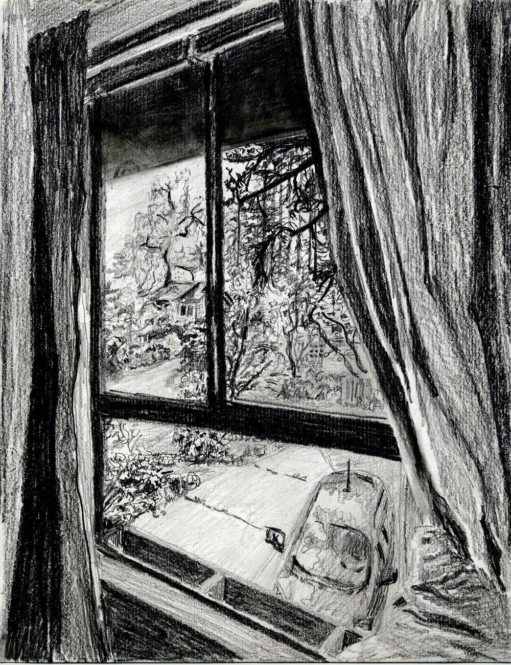 Window #1  Pencil on paper. 8 x 11 in.