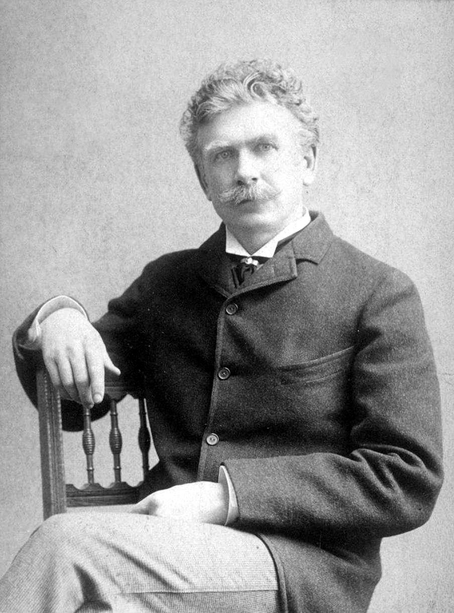 Photograph of Ambrose Bierce, artist unknown, 7 Oct 1892