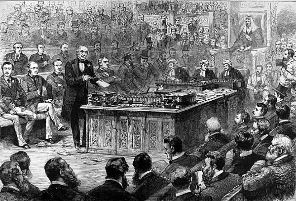 Gladstone debate on Irish Home Rule, 8th April, 1886, Illustrated London News