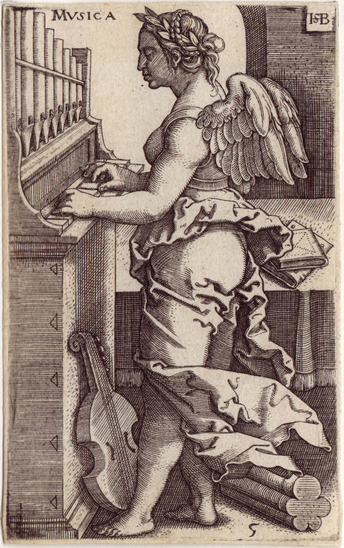 "Hans Sebald Beham(1500-1550), 'Musica', from ""The Seven Liberal Arts"" , Holland"