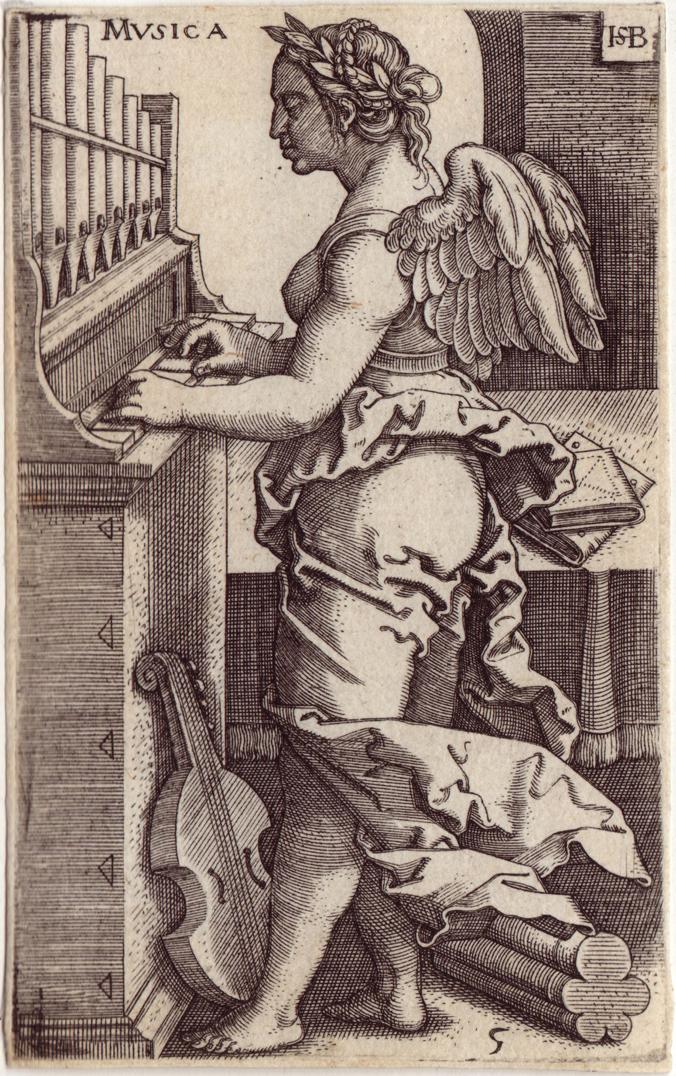 "Hans Sebald Beham(1500-1550), 'Musica', from ""The Seven Liberal Arts"" , Holland"