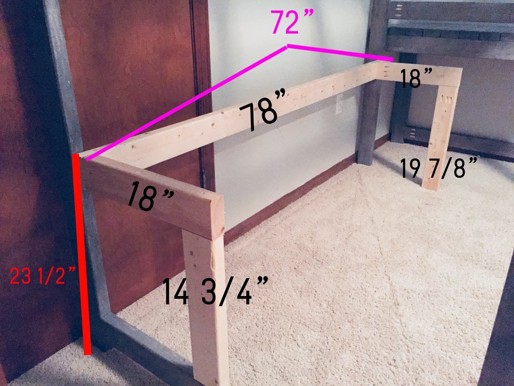 Refer to this picture for building the desk support.
