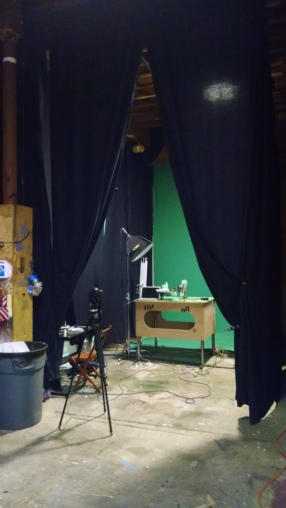 A simple animation setup.  Photograph by Vanessa Pridgen