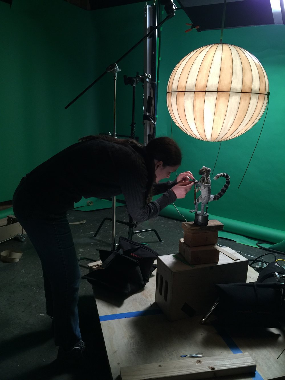 Animator Vanessa Pridgen working.  Photograph by Beth Gavigan